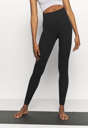 SEAMLESS BLOCKED - Leggings - black