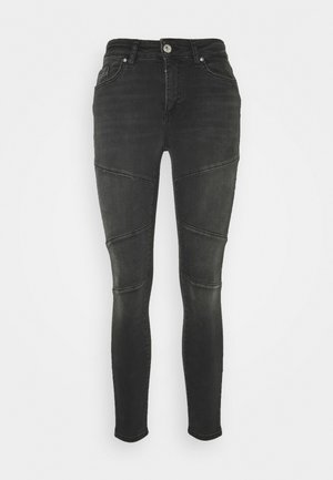 ONLBLUSH CUT LIFE - Jeans Skinny Fit - dark grey denim