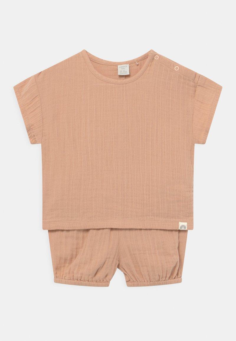 Lindex - BLOOMERS SET UNISEX - Basic T-shirt - beige