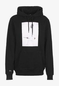 Chi Modu - HOODIE BK 2 - Sweatshirt - black/print white - 0