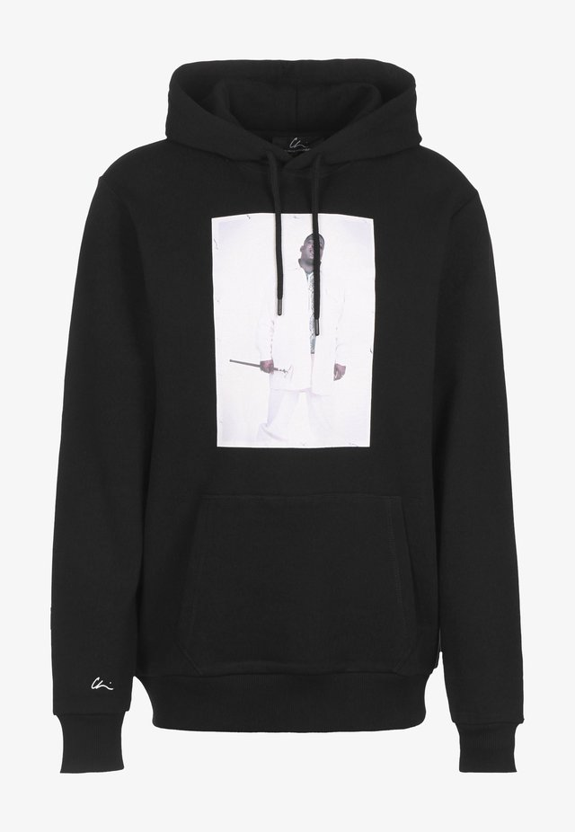 HOODIE BK 2 - Sweatshirt - black/print white