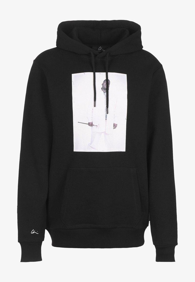 Chi Modu - HOODIE BK 2 - Sweatshirt - black/print white
