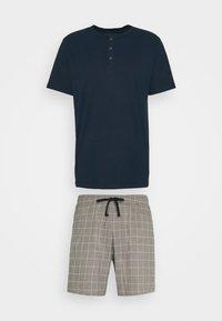 Schiesser - SCHLAFANZUG KURZ SET - Pyjamas - nachtblau - 0