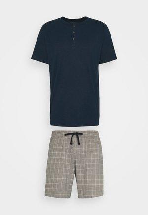 SCHLAFANZUG KURZ SET - Pyjamas - nachtblau