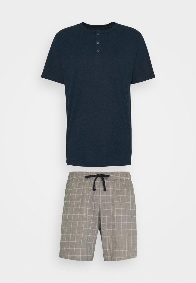 Schiesser - SCHLAFANZUG KURZ SET - Pyjamas - nachtblau