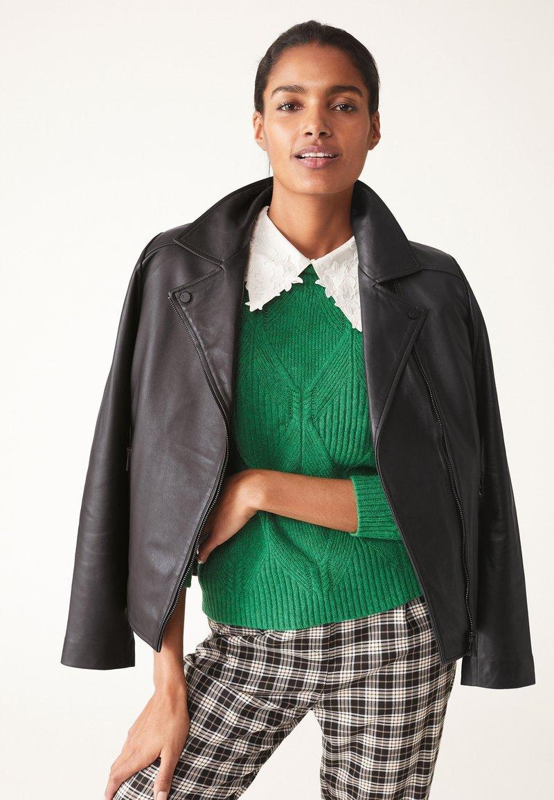 Next - Leather jacket - black