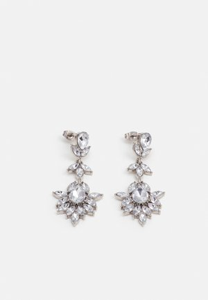 PCLAUREL EARRINGS - Earrings - silver-coloured/clear