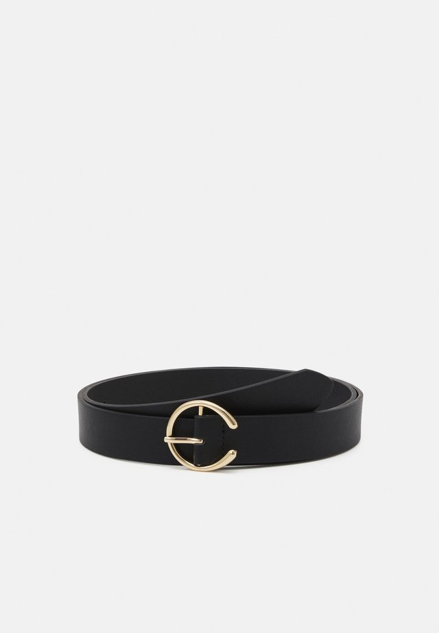 PCOFELIA BELT CURVE - Pásek - black/gold-coloured