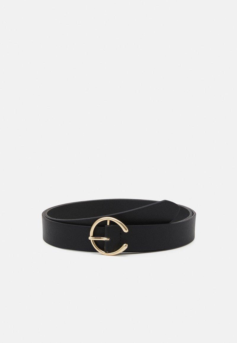 Pieces - PCOFELIA BELT CURVE - Belt - black/gold-coloured
