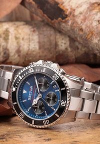 Sector - Chronograph watch - blau silber - 5