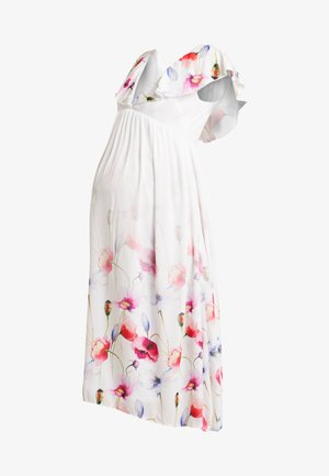 TRUE HI LOW MIDAXI DRESS WITH FRILLS - Maxi-jurk - ombre cream