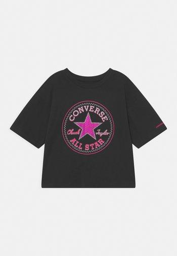 STAR FLIP SEQUIN BOXY TEE - T-shirt con stampa - black