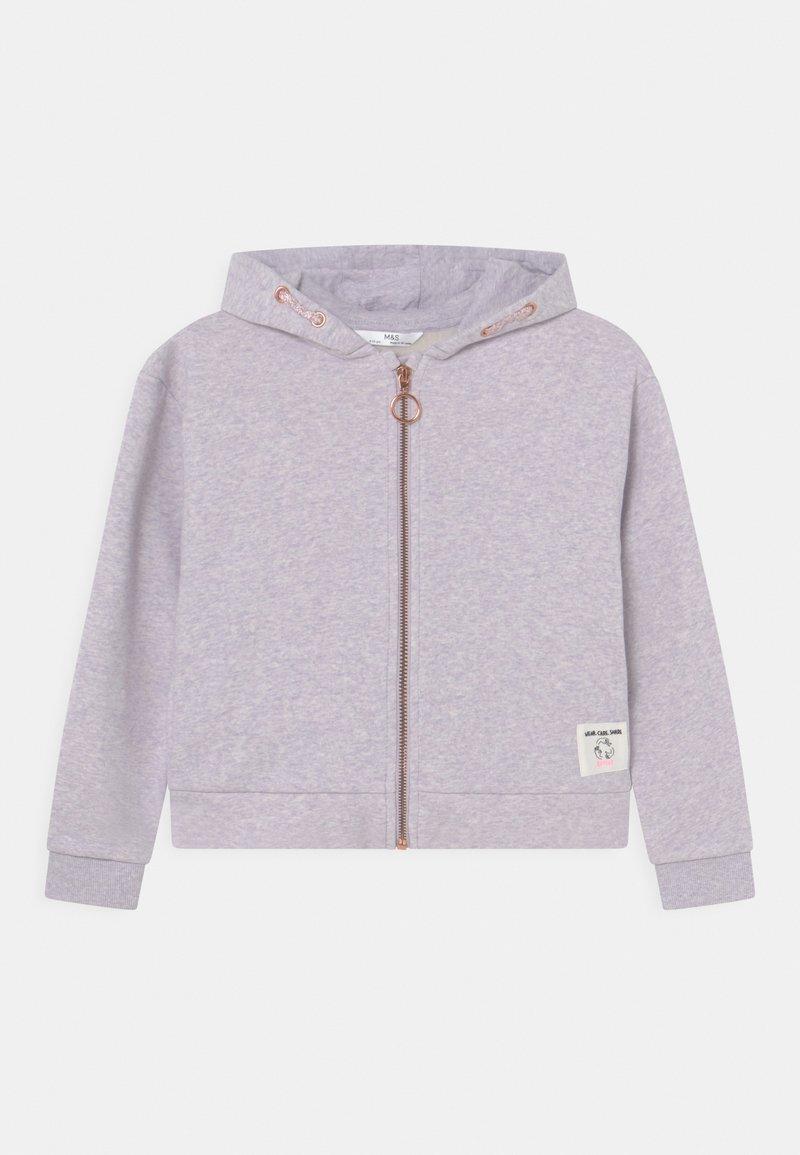 Marks & Spencer London - ZIP THROUGH HOODY - Sweater met rits - lilac