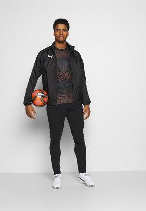GRAPHIC CORE - Sports shirt - black/shocking orange
