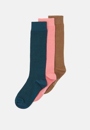 KNEEHIGH 3 PACK UNISEX - Knee high socks - pink