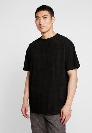 OVERSIZED PEACHED TEE - T-shirt basic - black
