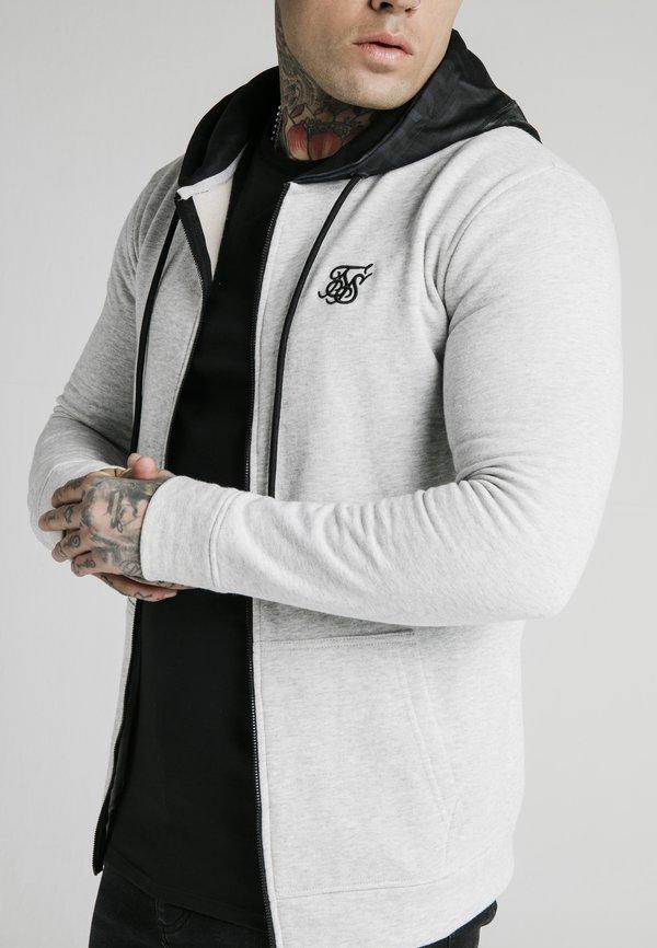 SIKSILK ZIP THROUGH HOODIE - Bluza rozpinana - grey/szary Odzież Męska IMBQ