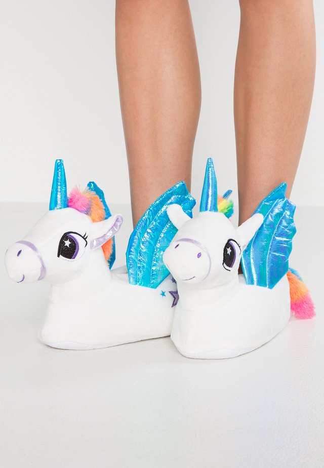 TRIXIE UNICORN TRIM 3D SLIPPER - Chaussons - white