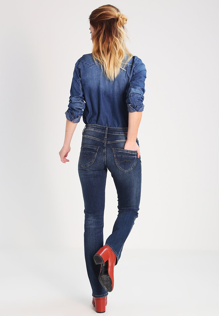 Mustang SISSY STRAIGHT - Jean droit - dark scratched used - Jeans Femme VJKjc