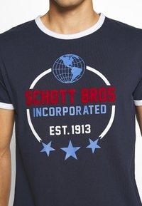 Schott - Print T-shirt - navy - 5