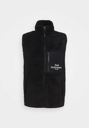 ORIGINAL PILE ZIP VEST - Vesta - black
