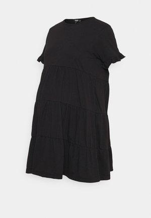 MATERNITY SMOCK DRESS - Žerzejové šaty - black