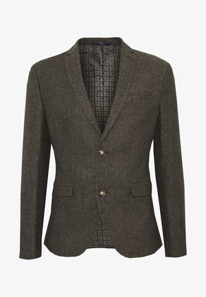 HERRINGBONE  - Blazer jacket - brown
