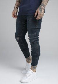 SIKSILK - CUT SEW - Jeans Skinny Fit - indigo - 0