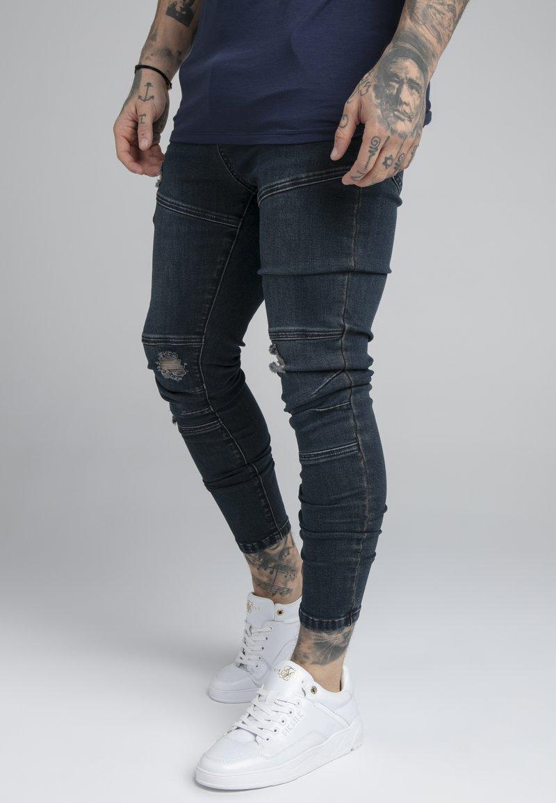 SIKSILK - CUT SEW - Jeans Skinny Fit - indigo