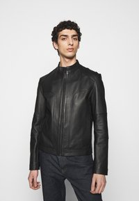 HUGO - LONOS - Leather jacket - black - 0