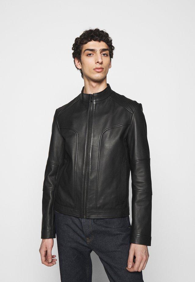 LONOS - Veste en cuir - black