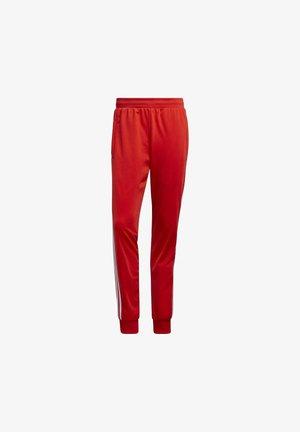 3 STRIPE SPRT COLLECTION - Pantalon de survêtement - red