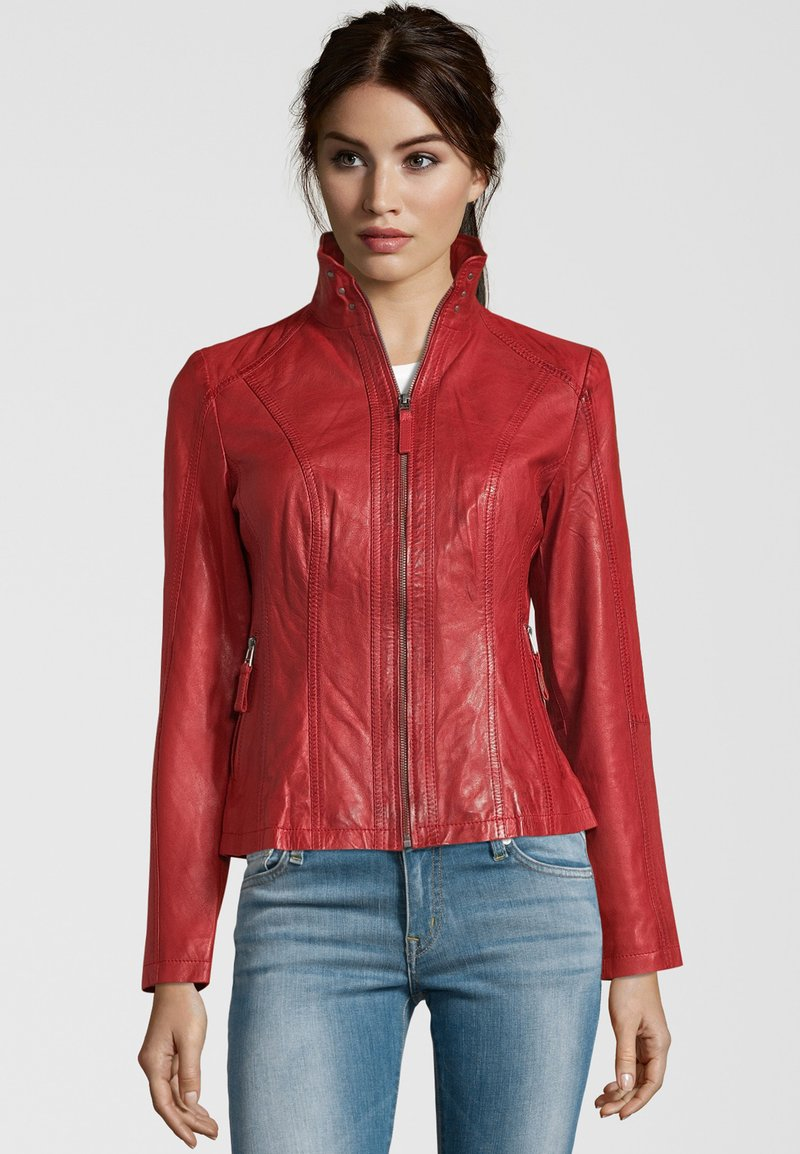 7eleven - PADUA  - Leather jacket - red