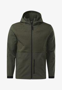 Reebok - THERMOWARM DELTAPEAK FULL-ZIP CONTROL - Zip-up hoodie - green - 7