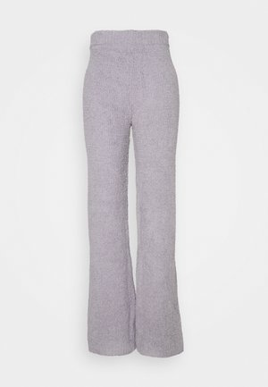 POPCORN WIDE LEG TROUSER - Trousers - grey