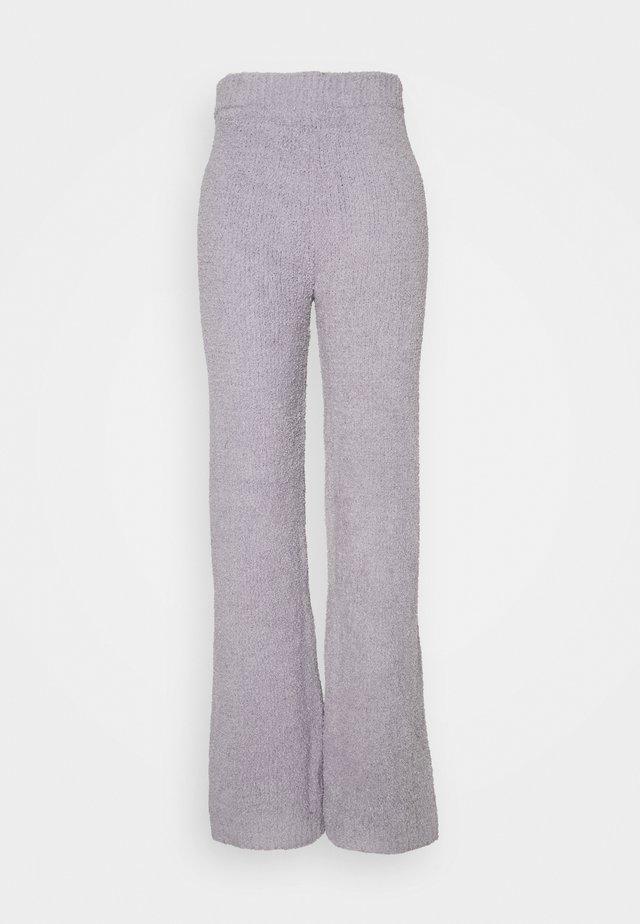 POPCORN WIDE LEG TROUSER - Bukse - grey
