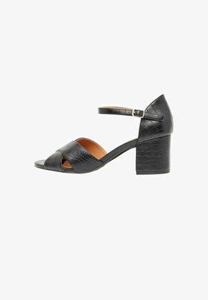 BIACATE  - Sandaalit nilkkaremmillä - black6