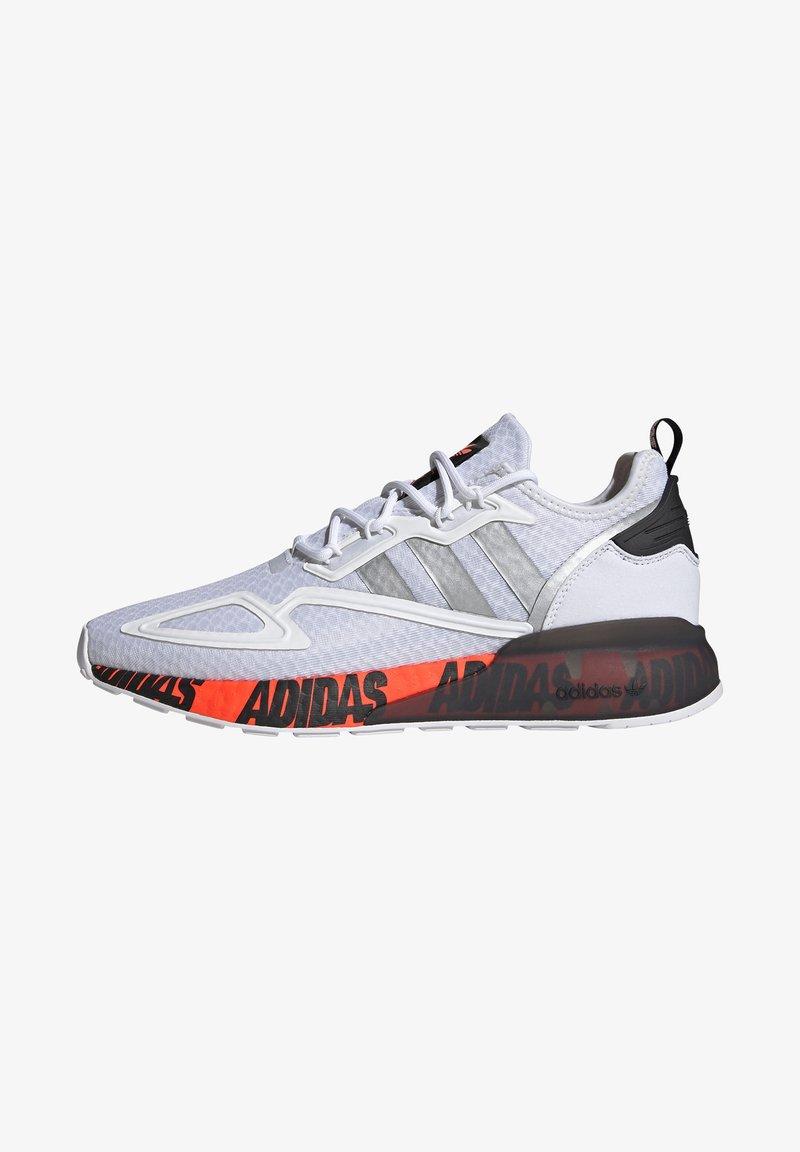 adidas Originals - ZX 2K BOOST UNISEX - Trainers - footwear white/silver metallic/core black