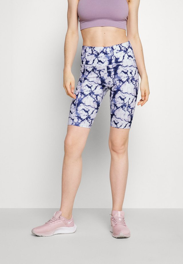 CYCLING SHORT MARBLE - Collants - snow white