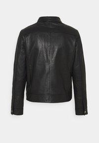 Selected Homme - SLHICONIC BLOUSON  - Leather jacket - black - 9