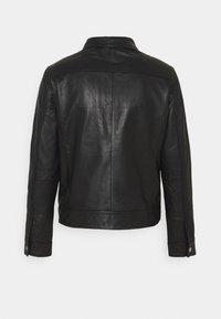 Selected Homme - SLHICONIC BLOUSON  - Kožená bunda - black - 9