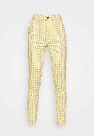PLAID - Pantalon classique - yellow