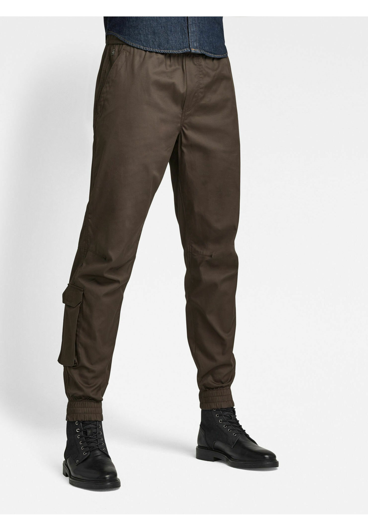 Homme CHINO RELAXED CUFFED TRAINER - Chino