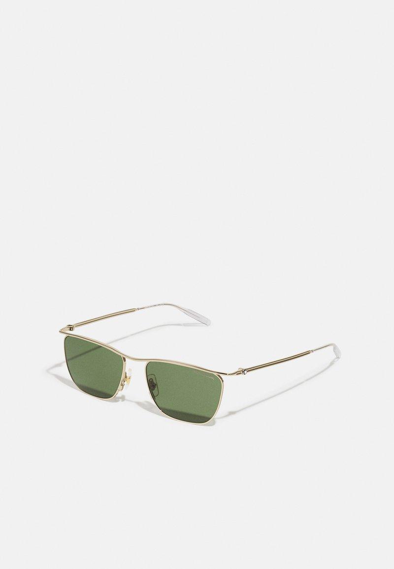 Mont Blanc - UNISEX - Sunglasses - gold-coloured/green