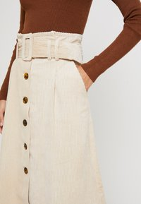 Topshop - BELTED MIDI - Maxi skirt - stone - 4
