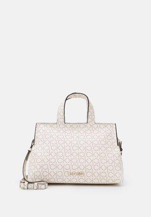 TOTE ZIP MONOGRAM - Handbag - white