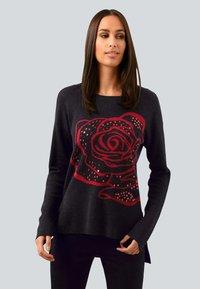 Alba Moda - Sweatshirt - schwarz,rot - 0