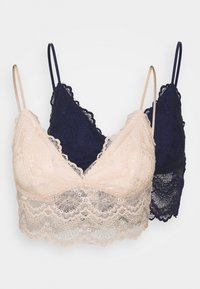 MIA 2 PACK - Bustier - navy/nude