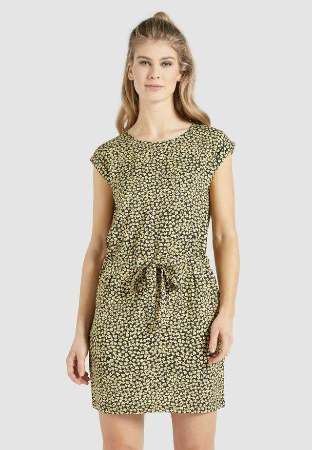 CANDIDE - Etui-jurk - schwarz-gelb geblümt