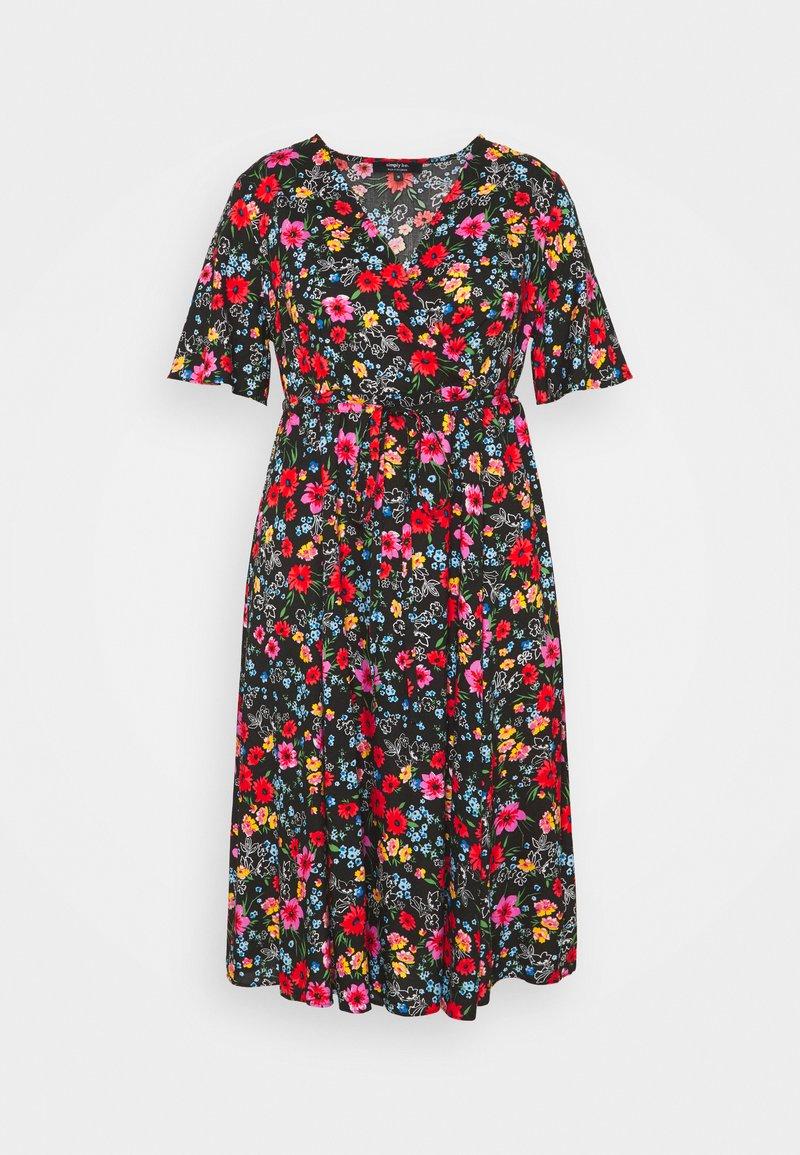 Simply Be - SLEEVE DRESS - Korte jurk - black